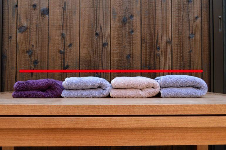 畳んだタオル比較写真アップ