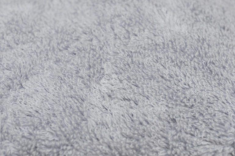 脱水後のタオルの乾燥アップ写真